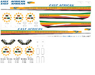 1/144 Scale Decal East African VC-10