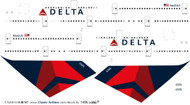 1/200 Scale Decal Delta 747-400 Latest