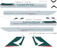 1/200 Scale Decal Cathay Pacific 747-400