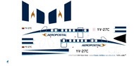1/72 Scale Decal Aeropostal DHC-6 Twin Otter