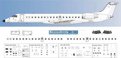 1/144 Scale Decal Detail Sheet ERJ-145
