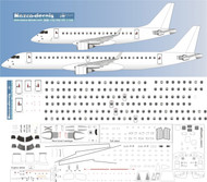 1/144 Scale Decal Detail Sheet EMB-170 thru EMB-195