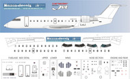 1/144 Scale Decal Detail Sheet CRJ-100 / 200