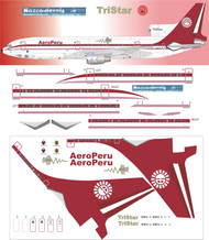 1/144 Scale Decal AeroPeru L-1011 70's