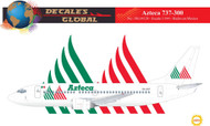 1/144 Scale Decal Azteca 737-300