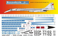 1/144 Scale Decal Aeroflot TU-144 Demo 1972