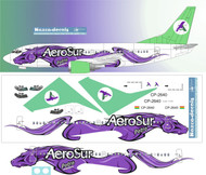 1/144 Scale Decal AeroSur 737-300 Porto Livery