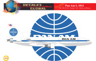 1/144 Scale Decal Pan American L-1011