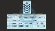 1/144 Scale Decal Lifelike Cockpit / Windows / Doors A300-B2/4