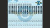 1/144 Scale Decal Lifelike Windows for Boeing 707 thru 767