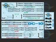 1/100 Scale Decal Lifelike Cockpit / Windows / Doors DC-10