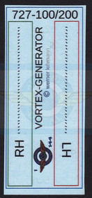 1/144 Scale Decal 3-D 727-100 / 200 Vortex Generator