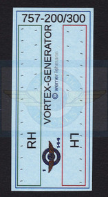 1/144 Scale Decal 3-D 757-200 / 300 Vortex Generator