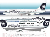 1/144 Scale Decal Alaska 737-200 With Cargo Door