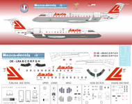 1/144 Scale Decal Lauda CRJ's