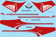 1/144 Scale Decal Air Lanka 707-320