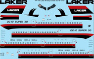 1/144 Scale Decal Laker Airways McDonnell Douglas DC-10-30