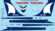 1/144 Scale Decal Tradewinds Boeing 707-320C