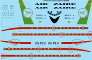 1/144 Scale Decal Air Zaire Douglas DC-8-63