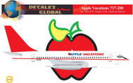 1/144 Scale Decal Apple Vacations 737-200