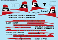 1/144 Scale Decal British Eagle & Eagle Airways Douglas DC-6B