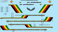 1/144 Scale Decal Air Zimbabwe Boeing 707-330B