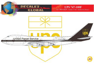 1/144 Scale Decal UPS 747-100F