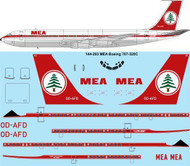 1/144 Scale Decal MEA Boeing 707-320C