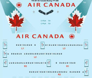 1/144 Scale Decal Air Canada Boeing 777-200
