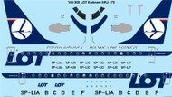 1/144 Scale Decal LOT Polish Airlines Embraer ERJ-175