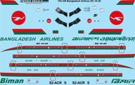 1/144 Scale Decal Biman Bangladesh Airlines McDonnell Douglas DC-10-30