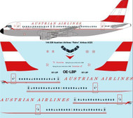 1/144 Scale Decal Austrian Airways A-320 Retro laser decal