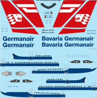 1/144 Scale Decal Germanair / Bavaria Germanair Airbus A300B4