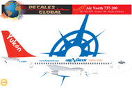 1/144 Scale Decal Air North 737-200