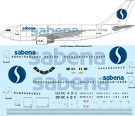 1/144 Scale Decal Sabena A-310 laser decal