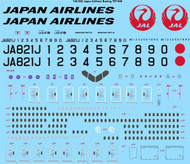 1/144 Scale Decal JAL Japan Airlines Boeing 787-846