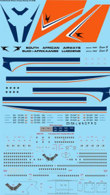 1/144 Scale Decal South African Airways Boeing 747-244B