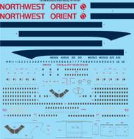 1/144 Scale Decal Northwest Orient Boeing 747-151/251