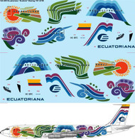 "1/144 Scale Decal Ecuatoriana ""Sunbird"" Boeing 707-321B"