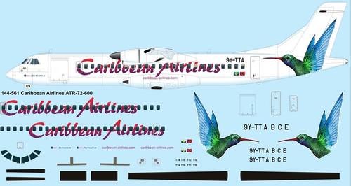 1/144 Scale Decal Caribbean Airlines ATR72-600