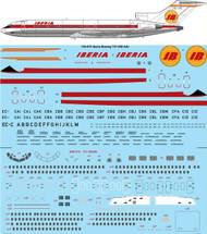 1/144 Scale Decal Iberia Boeing 727-256