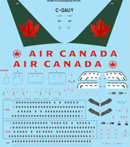 1/144 Scale Decal Air Canada Boeing 767-233