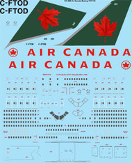 1/144 Scale Decal Air Canada Boeing 747-133