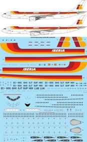 1/144 Scale Decal Iberia Airbus A330-300 & A340-300