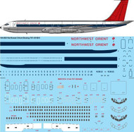 1/144 Scale Decal Northwest Orient Boeing 707-351B/C