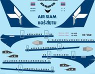 1/144 Scale Decal Air Siam Airbus A300B2