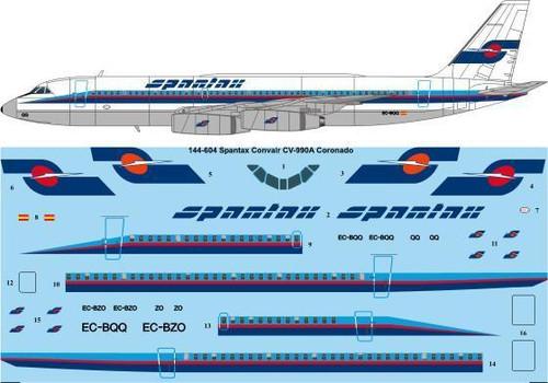 """1/144 Scale Decal Spantax """"Final"""" Convair CV-990A"""