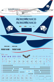 1/144 Scale Decal AeroMexico Boeing 787-8
