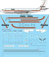 1/144 Scale Decal Alaska Red Boeing 720