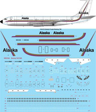 1/144 Scale Decal Alaska Purple Boeing 720